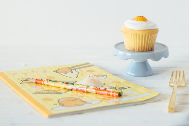 gudetama vanilla cupcakes fork to belly