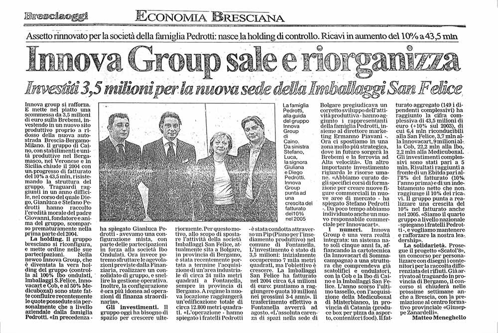 Innova Group – Brescia oggi | Forlani Studio