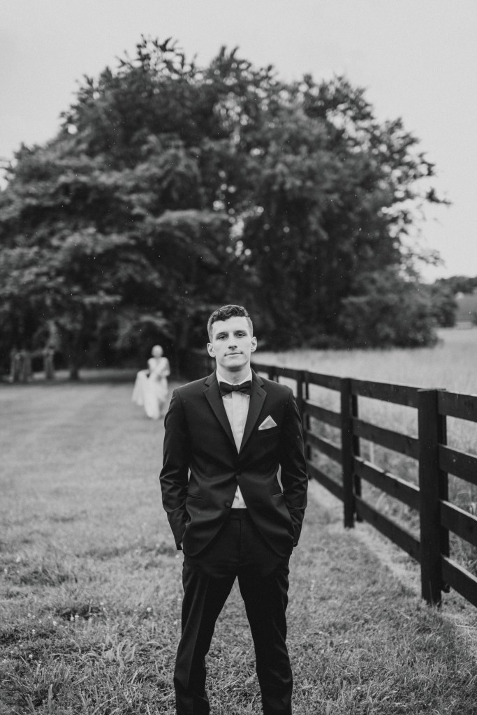 Groom outdoors portrait