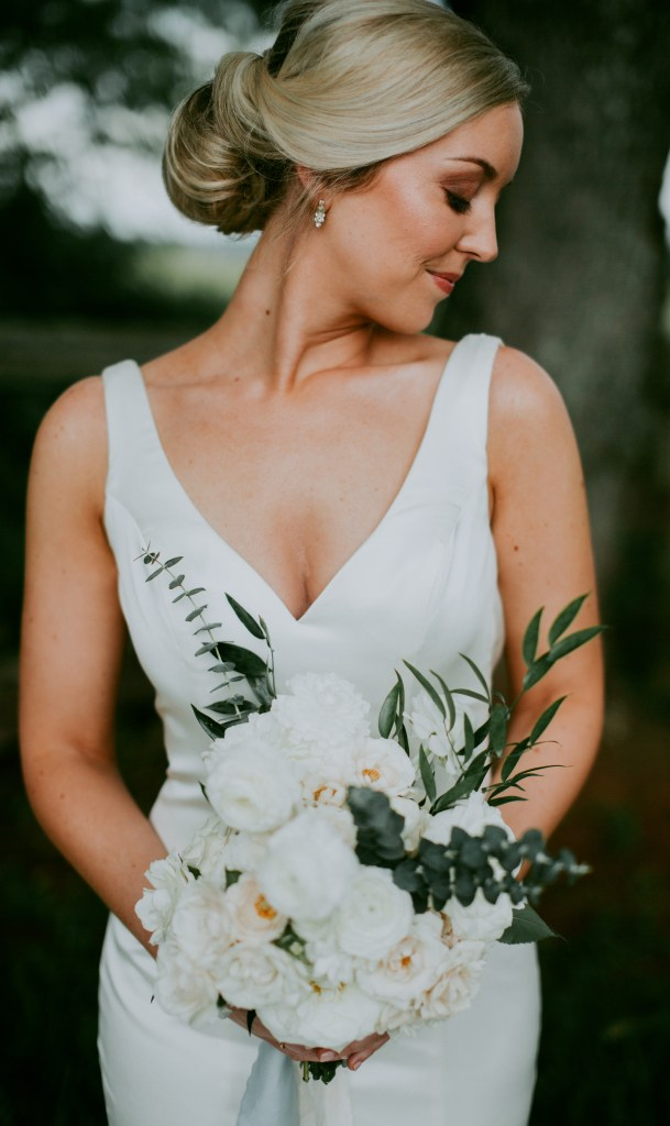 Floral Bride Bouquet Portrait