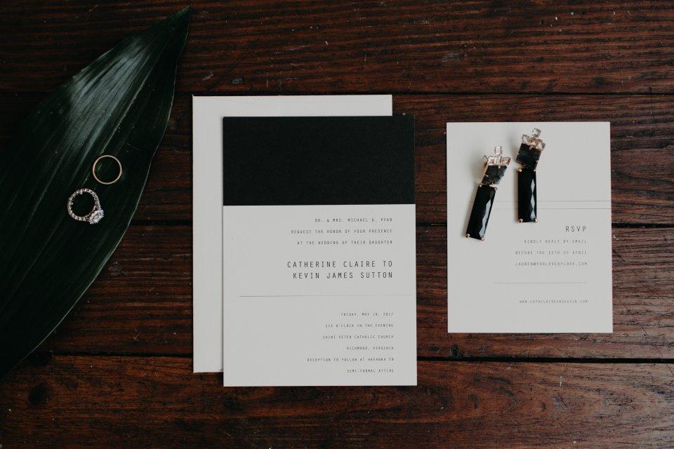 Modern Wedding Invitations Virginia