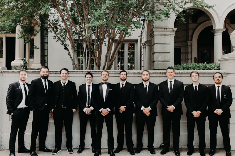 Modern Wedding Groomsmen Virginia
