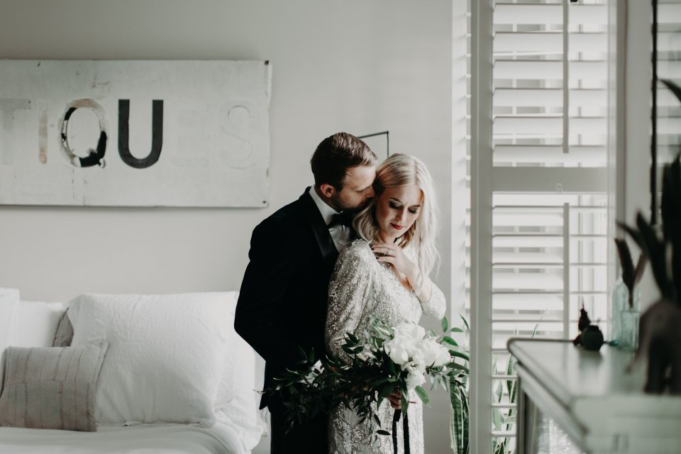 Modern Wedding Bride and Groom Virginia