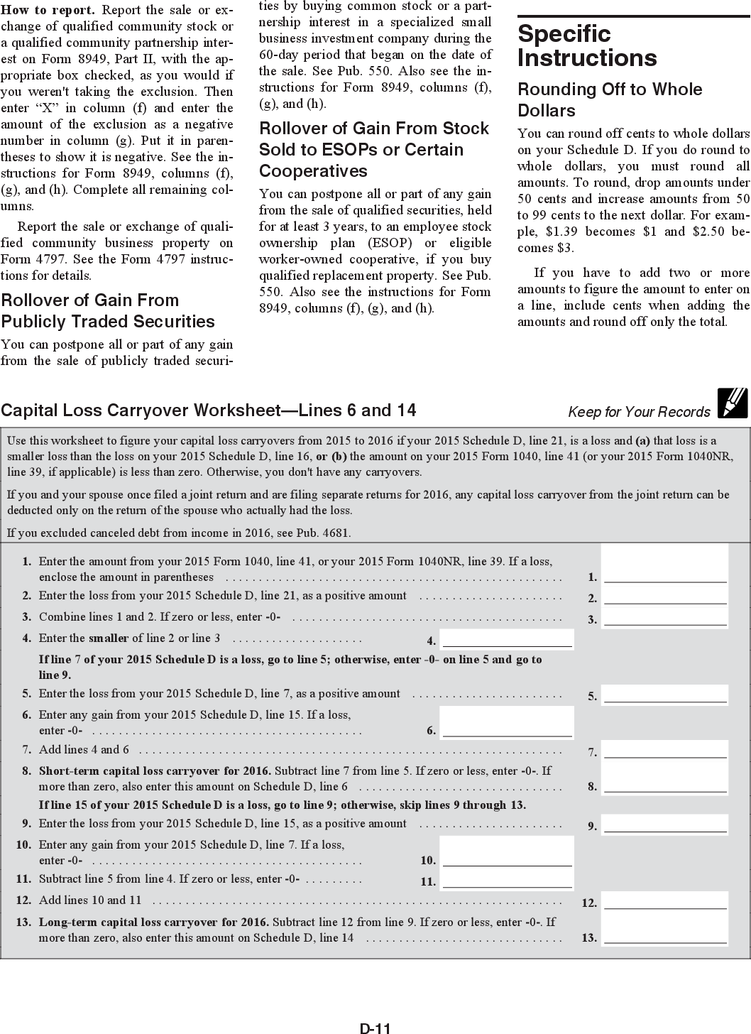 Worksheet Federal Income Tax