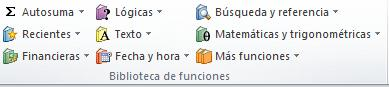 Principales funciones de Excel16