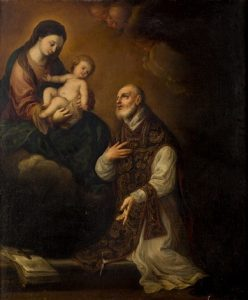 Virgen María y San Alfonso