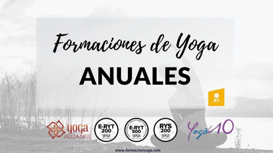 FORMACIONES DE YOGA ANUALES