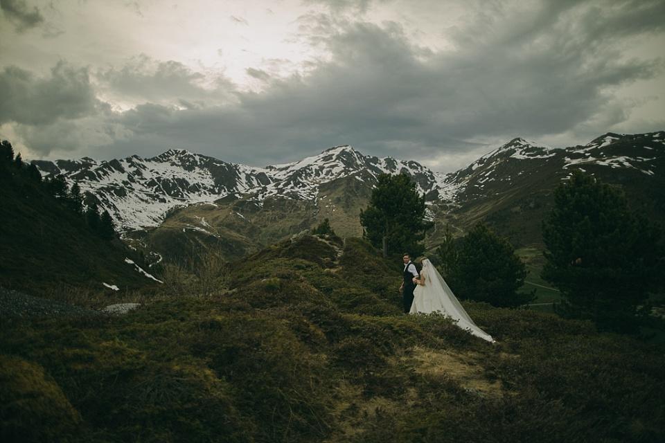 Hochzeitsfotos am Berg