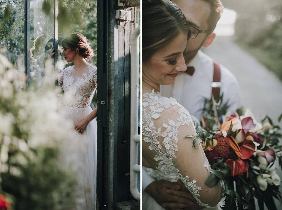 Die Alte Gärtnerei in Taufkirchen, München: Heiraten in einem Gewächshaus, Details, Spitze