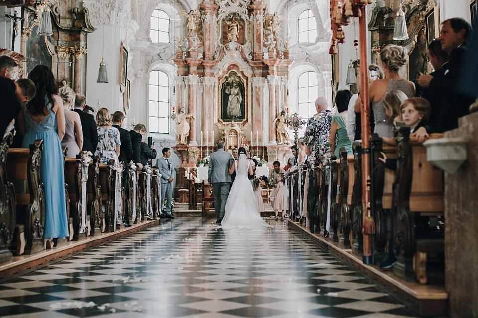 Hochzeit am Achensee, Kirche, Braut, Vater