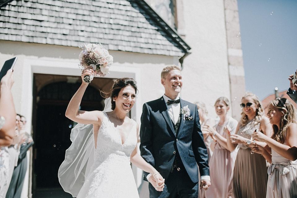 Eben am Achensee, Kirche, Brautpaar