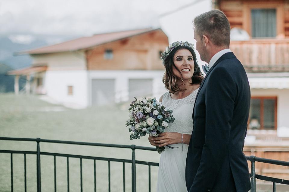 First Look, Hochzeit, Maierl Alm, Braut, Bräutigam