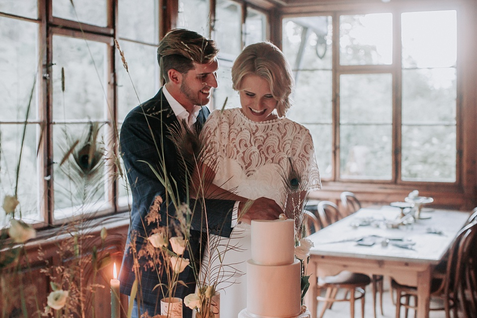 Tortenanschnitt, Hochzeit, Brautpaar
