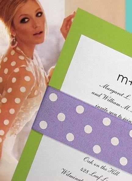 DIY Polka Dot Wedding Invitations