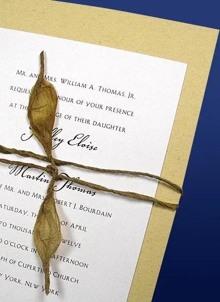 DIY Wedding Invitations Wrapped in Lokta Cord