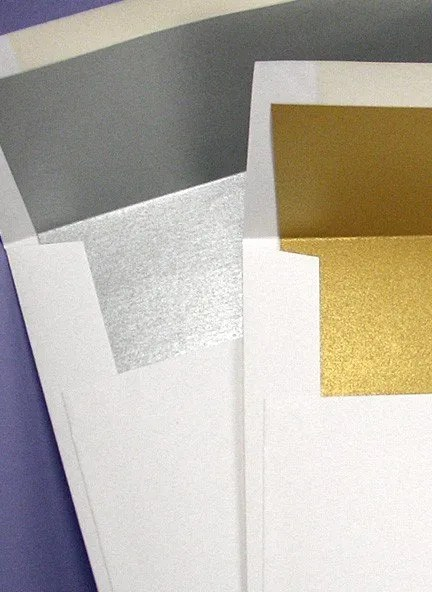 DIY Gold or Silver Wedding Invitations Liners