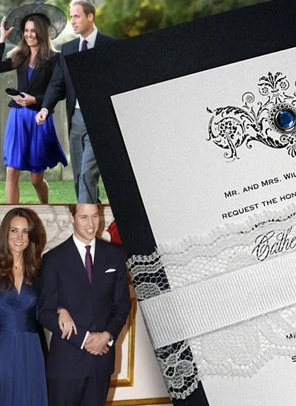 Kate and William Inspired Wedding Invitations