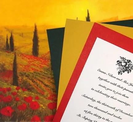DIY Tuscany Wedding Invitations