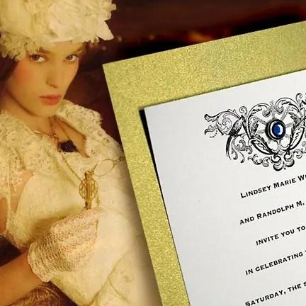 DIY Victorian Wedding Invitations