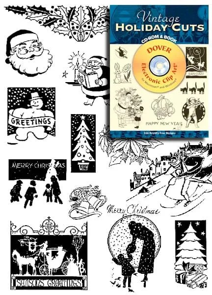 Vintage Holiday Images for Invitations and More