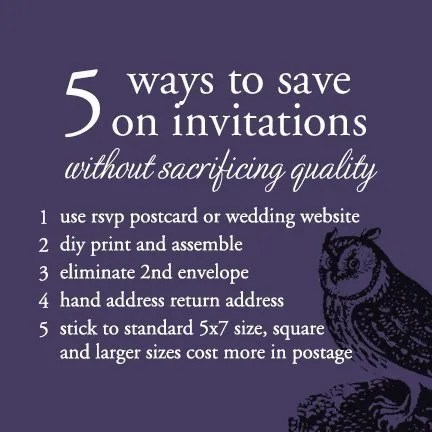 5 Ways to Save Money on Wedding Invitations