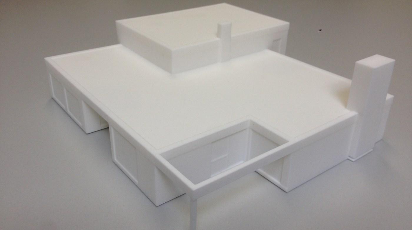 Formando 3D printing portfolio - Maquette woning architect Hasselt - 3D scan en print