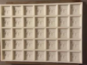 3D print mal voor pralines DEME logo