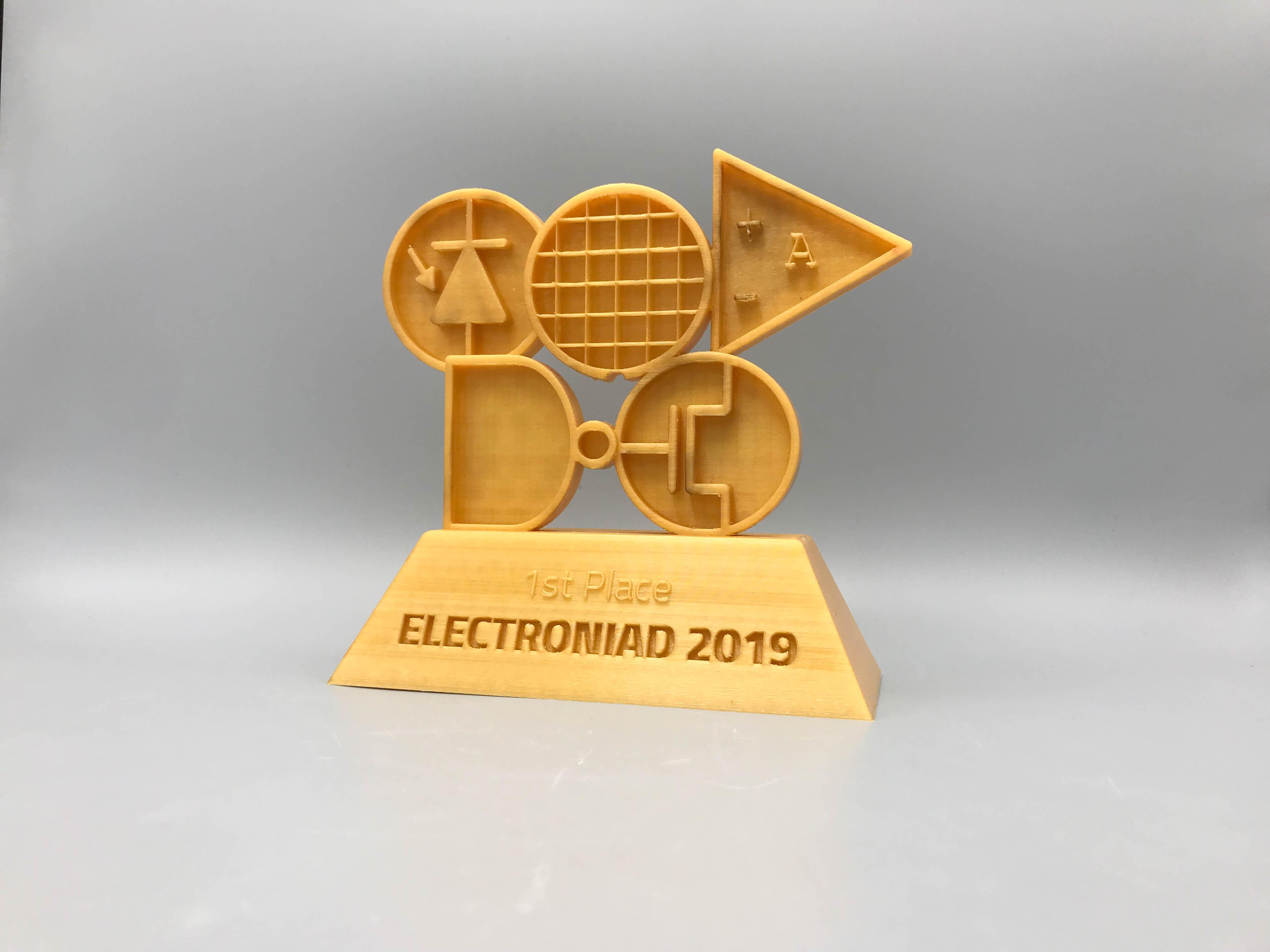 Award Gold 3D Electroniad