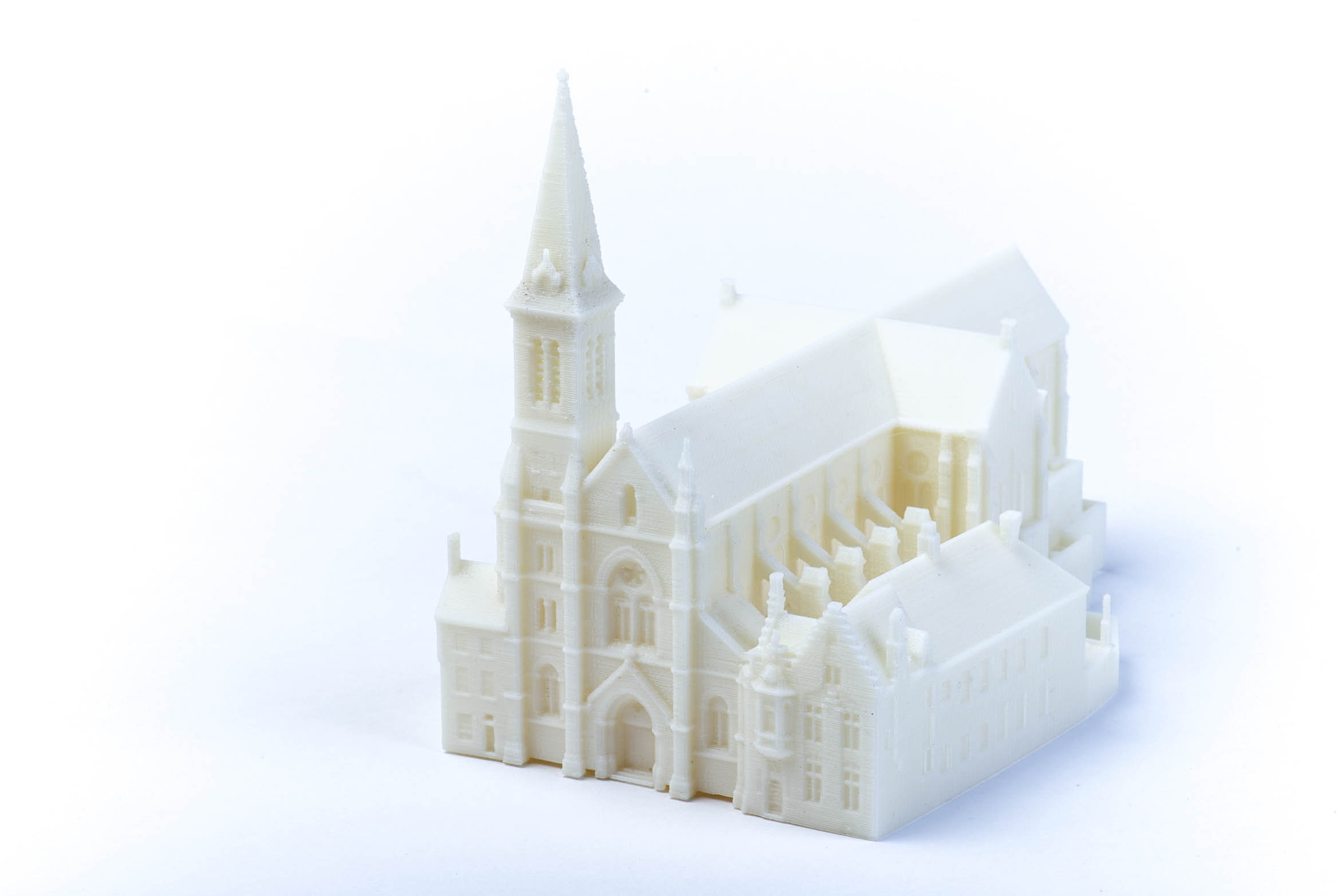 Schaalmodel Kerk Brugge scan & 3D print