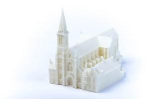 3D Scan en print Maquette kerk Brugge