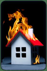 les biens brûlés ou grillés