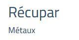 Metaux Recupar