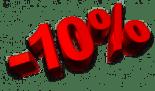 Rabais de 10%