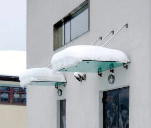 Electrically heated canopy snow melting