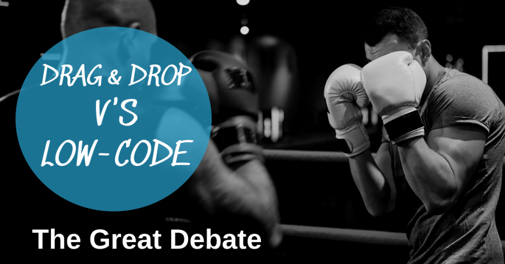 drag & drop v's Low-code