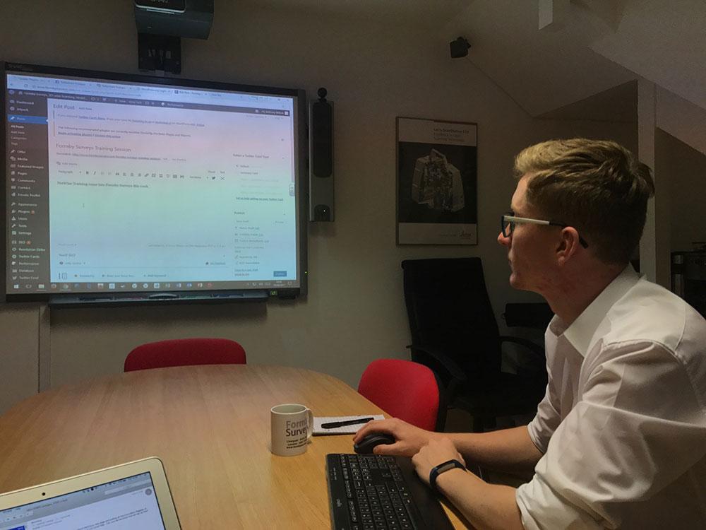 wordpress training session