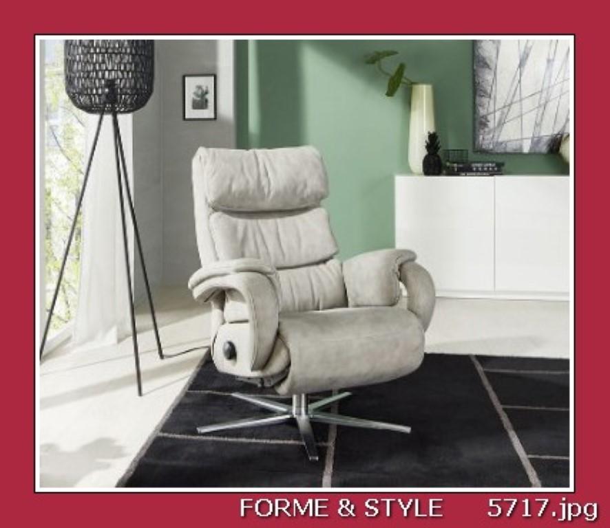 fauteuil relax himolla cosyform avec 3 moteurs cuir beige clair
