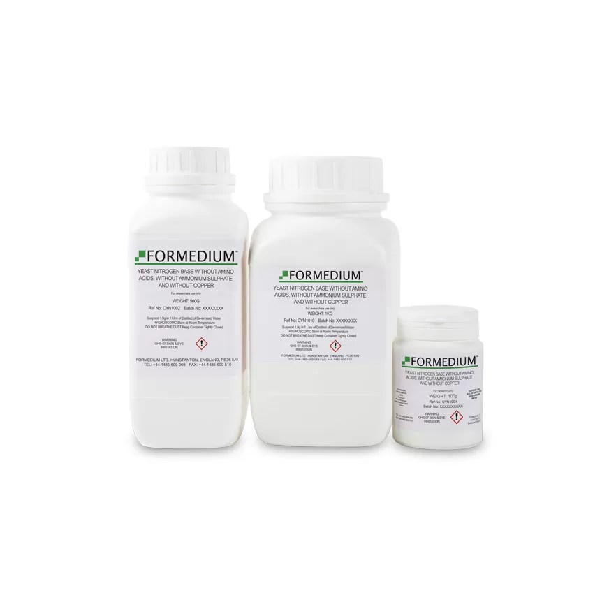 Yeast Nitrogen base without Amino acids, without Ammonium sulphate and without Copper