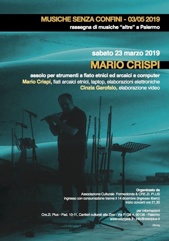 Locandina concerto Mario Crispi 230419