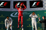 Lewis Hamilton (Mercedes), Sebastian Vettel (Ferrari) und Valtteri Bottas (Mercedes)