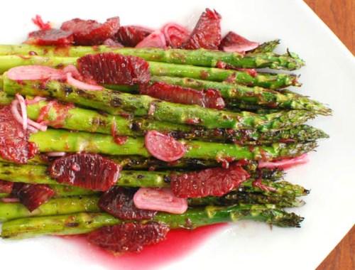 Grilled Asparagus and Blood Orange Vinaigrette