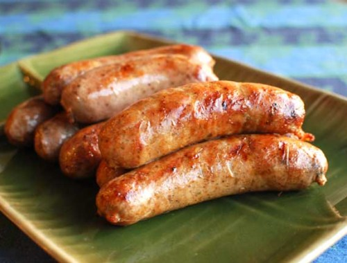 Homemade pork sausage.