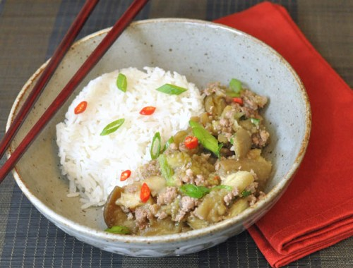 Cambodian Eggplant with Pork