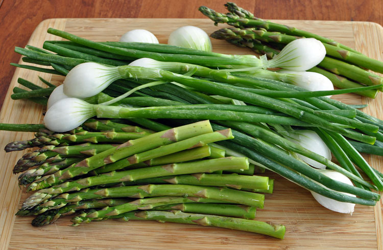Asparagus and Onions