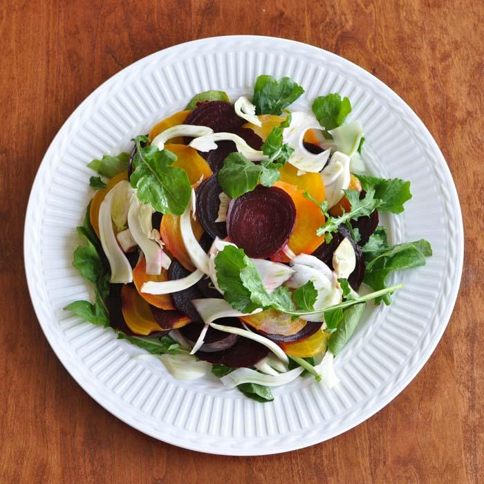 Beet, Fennel and Arugula Salad
