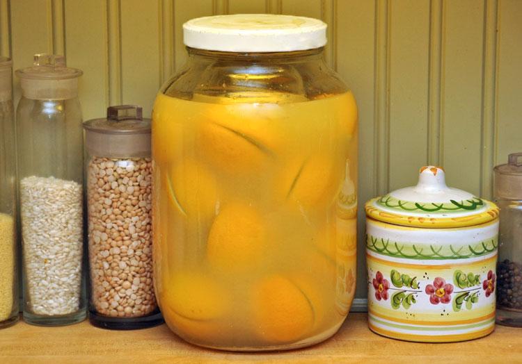 Gallon of preserved lemons