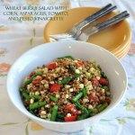 Wheat Berry Salad with Corn, Asparagus, Tomato and Pesto Vinaigrette
