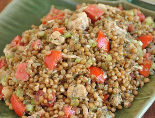 Sicilian Inspired Wheat Berry and Tuna Salad