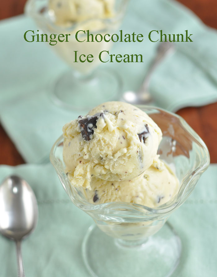 Ginger Chocolate Chunk Ice Cream