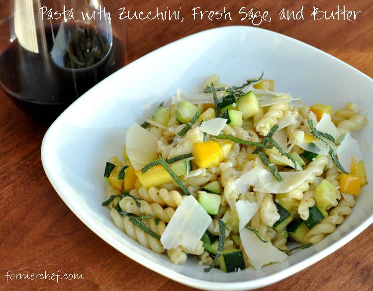 Zucchini Sage Pasta